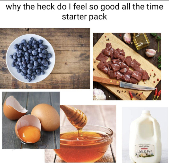 Blueberry meat smoothie - meme