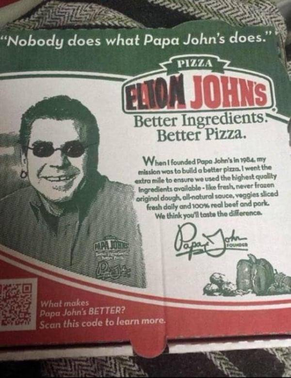 """""""I'm Still Standing"""" in line for pizza. - meme"""