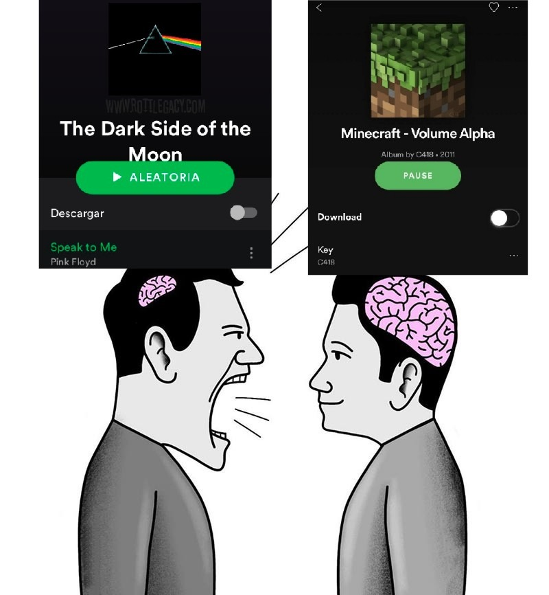 Gosto dos dois - meme