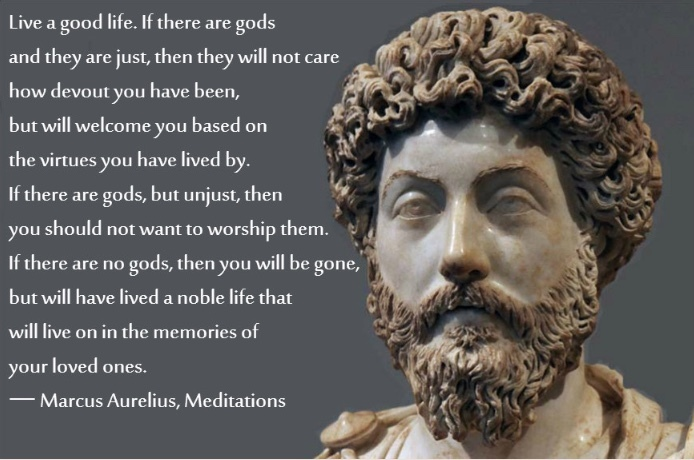Marcus Aurelius telling it like it is - meme