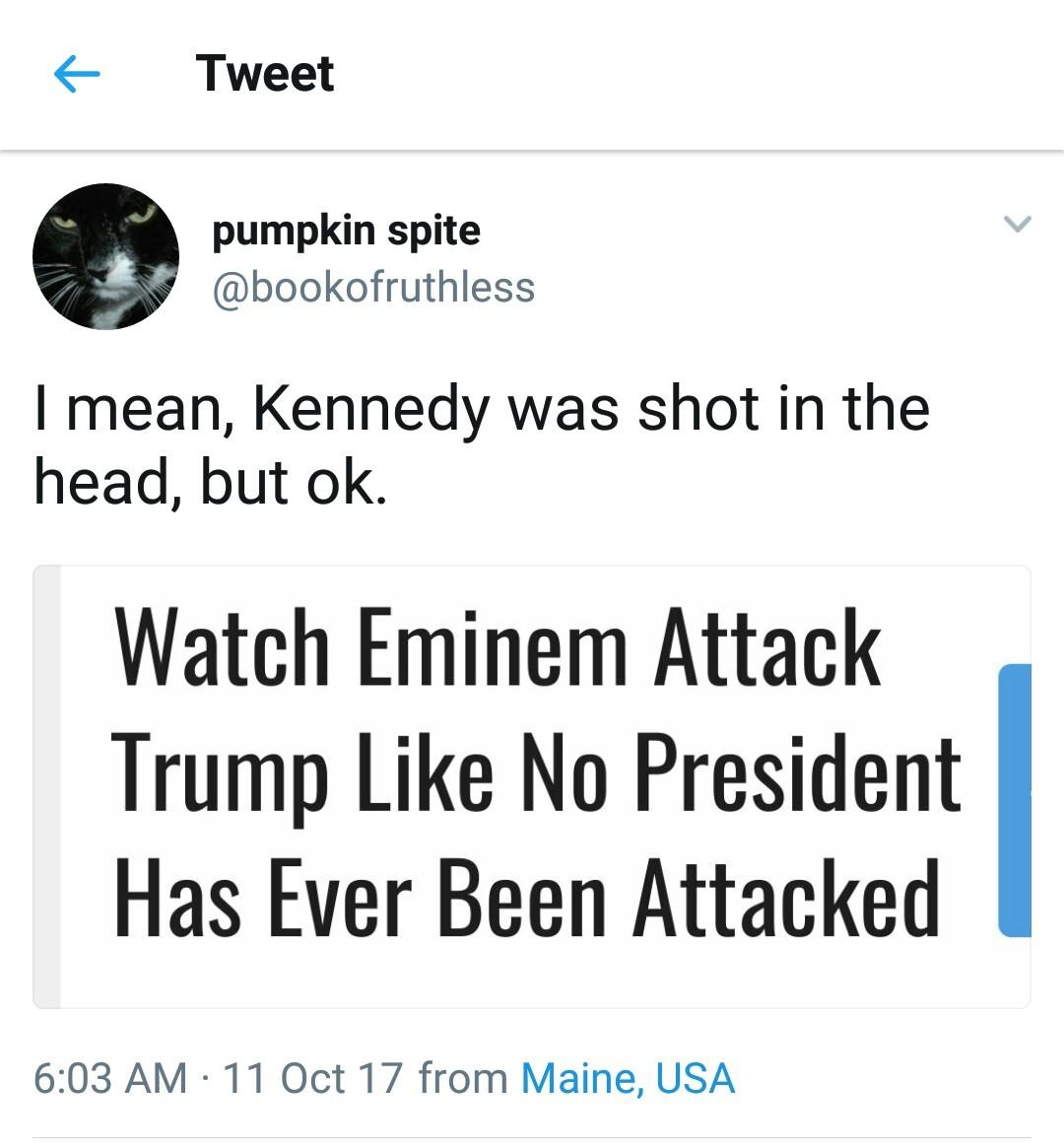 Trump vs Eminem vs Media - meme