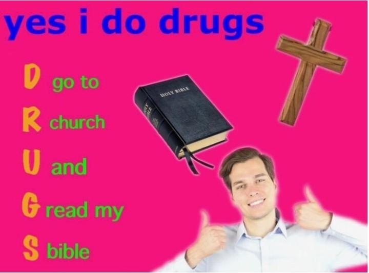 Usem drogas crianças - meme