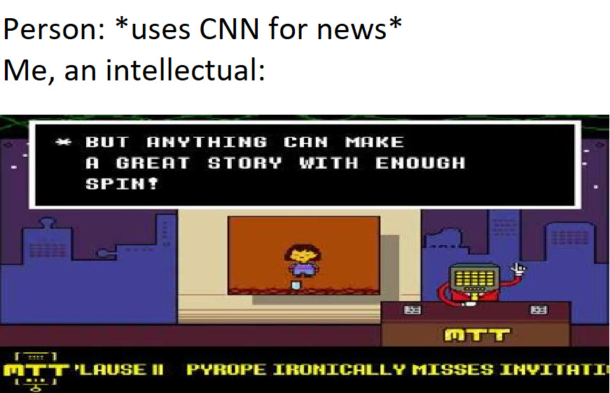 CNN is fake news - meme