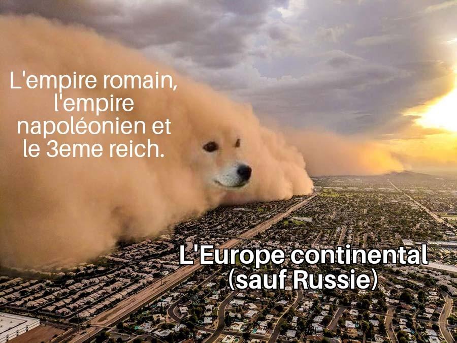 il y a aussi l'Angleterre mais après il y avait les romains la dedans - meme