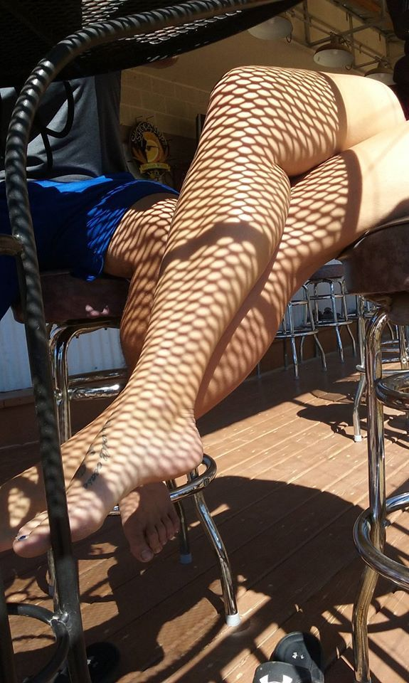 I told this lady I liked her stockings. - meme