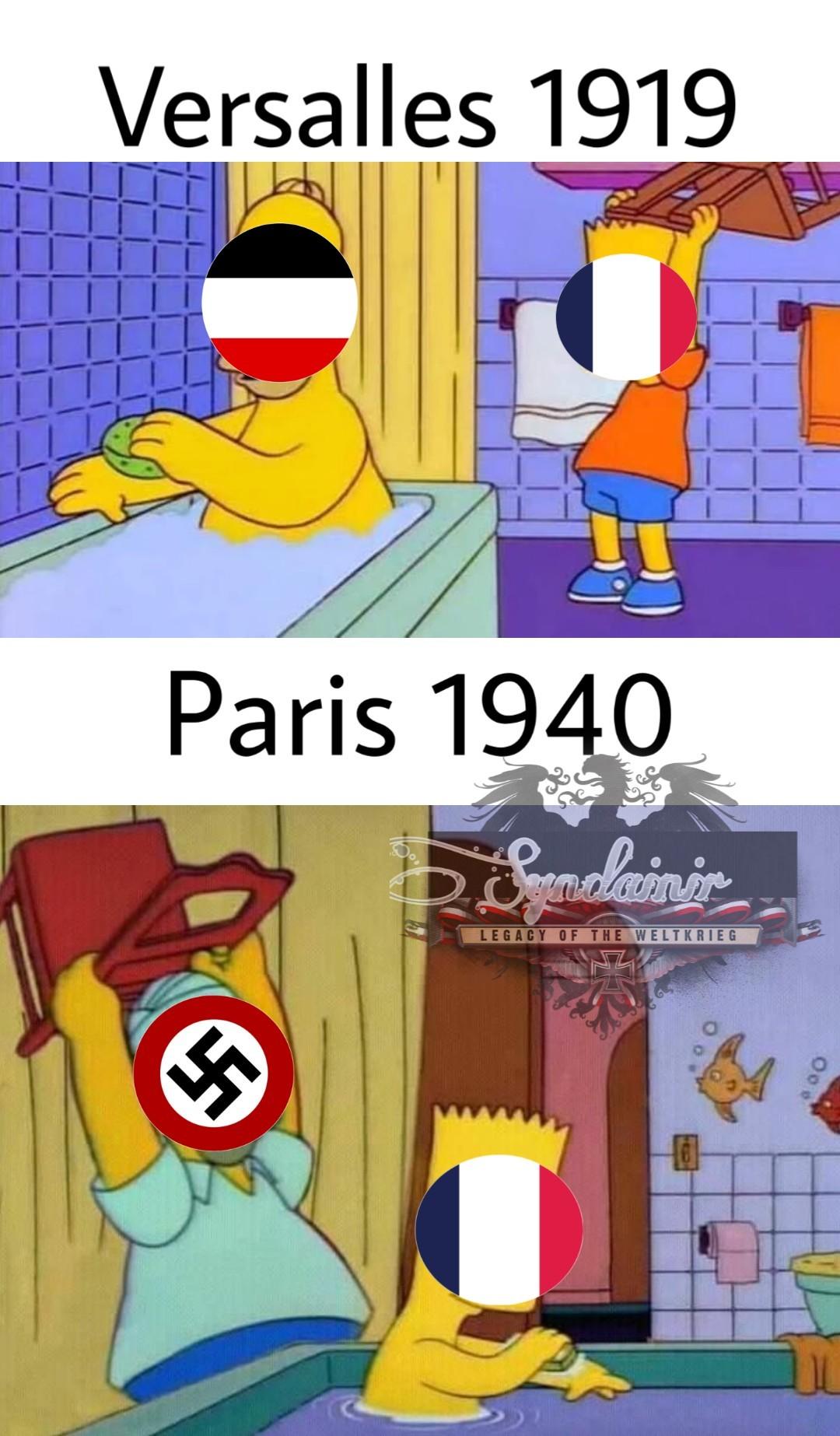 Que hermosos tiempos de dominación en Vichy. - meme