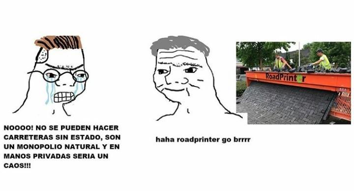 Roadprintee go brrrrrr - meme