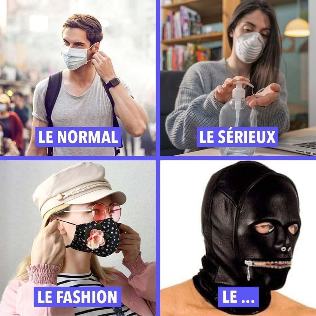 J'adore les masques.... C'est pour se protéger... Non ? - meme