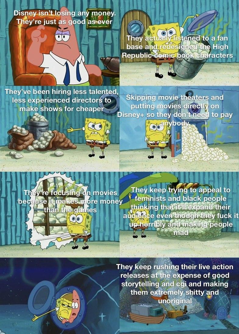 I feel like I make a lot of spongebob memes. And also a lot of Disney memes