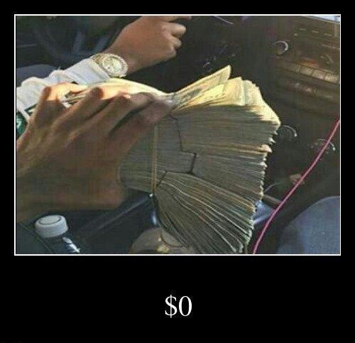 0 dólares - meme