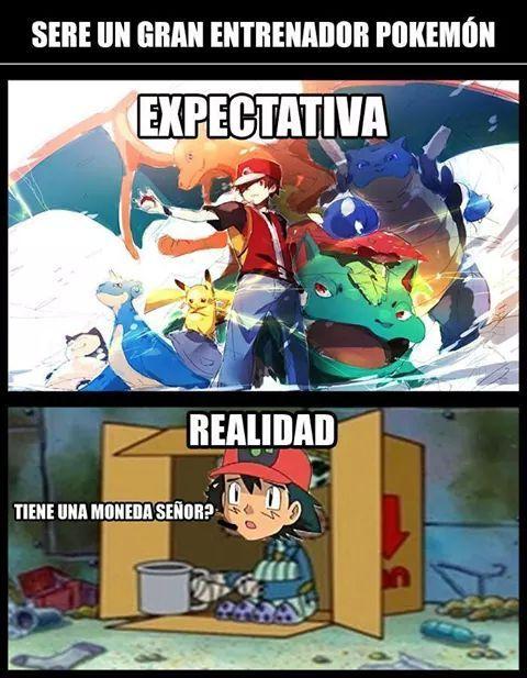 LOL!!!! entrenador pokemon contra la realidad - meme