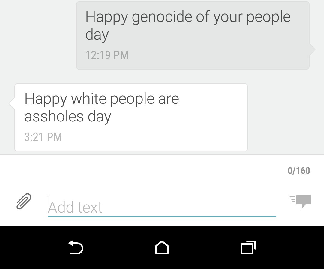 Happy white people are assholes day - meme
