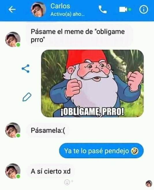 Obligameprro - meme