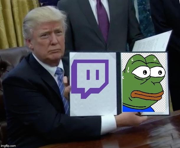 Donald trump dans le twitch game - meme