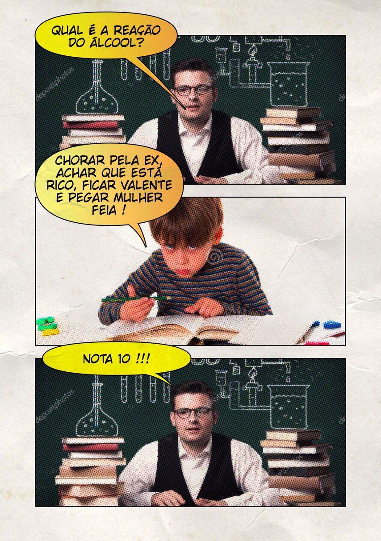 Aula de Química - meme