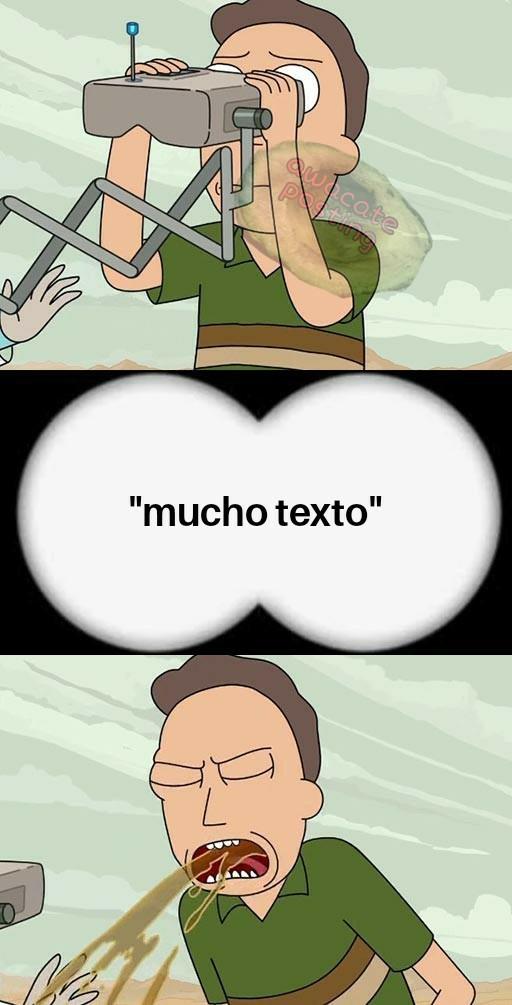 Demasiado texto - meme