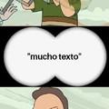 Demasiado texto