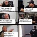 arguing with the right