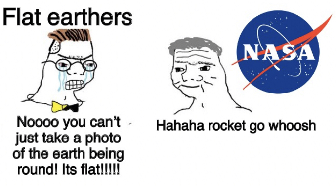 Dongs in a space agency - meme