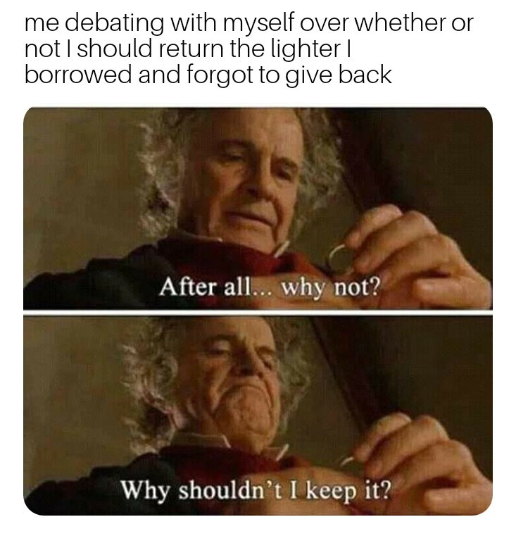 Should I keep it? - meme