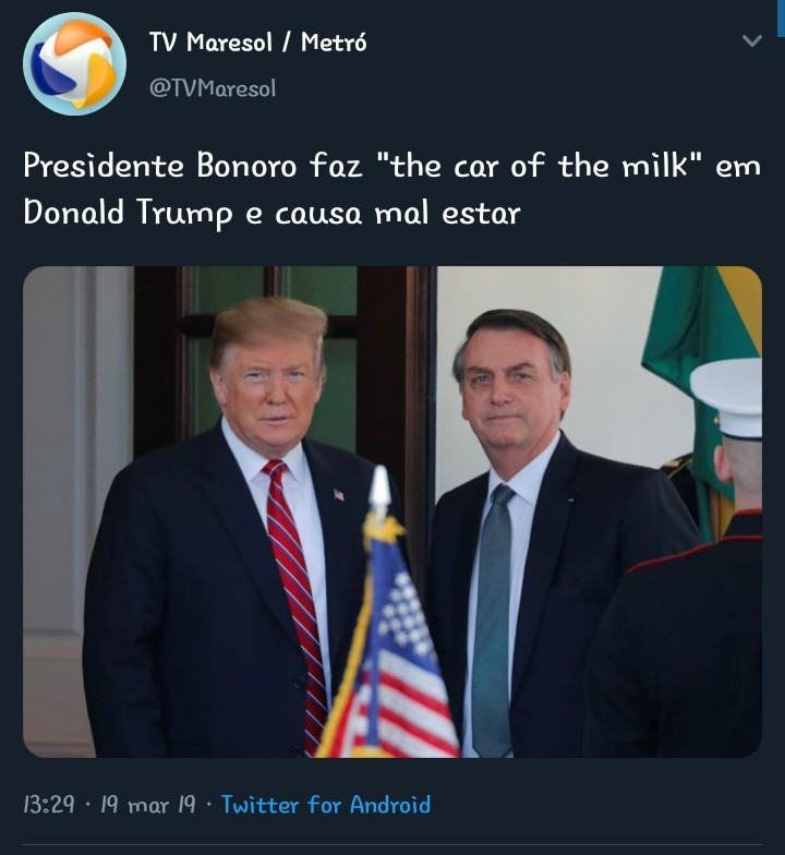 Car of the milk - meme