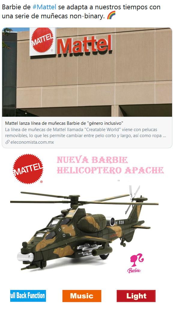 Nueva Barbie Helicoptero Apache - meme
