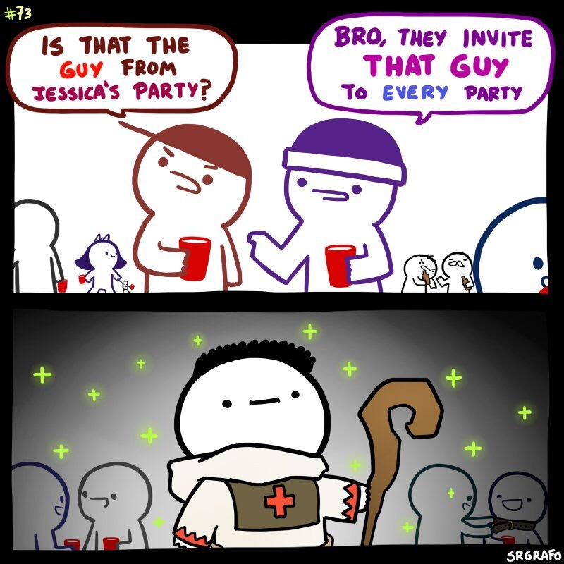 I don't get invited to parties:( - meme