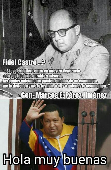 Chavez adoraba a Castro - meme