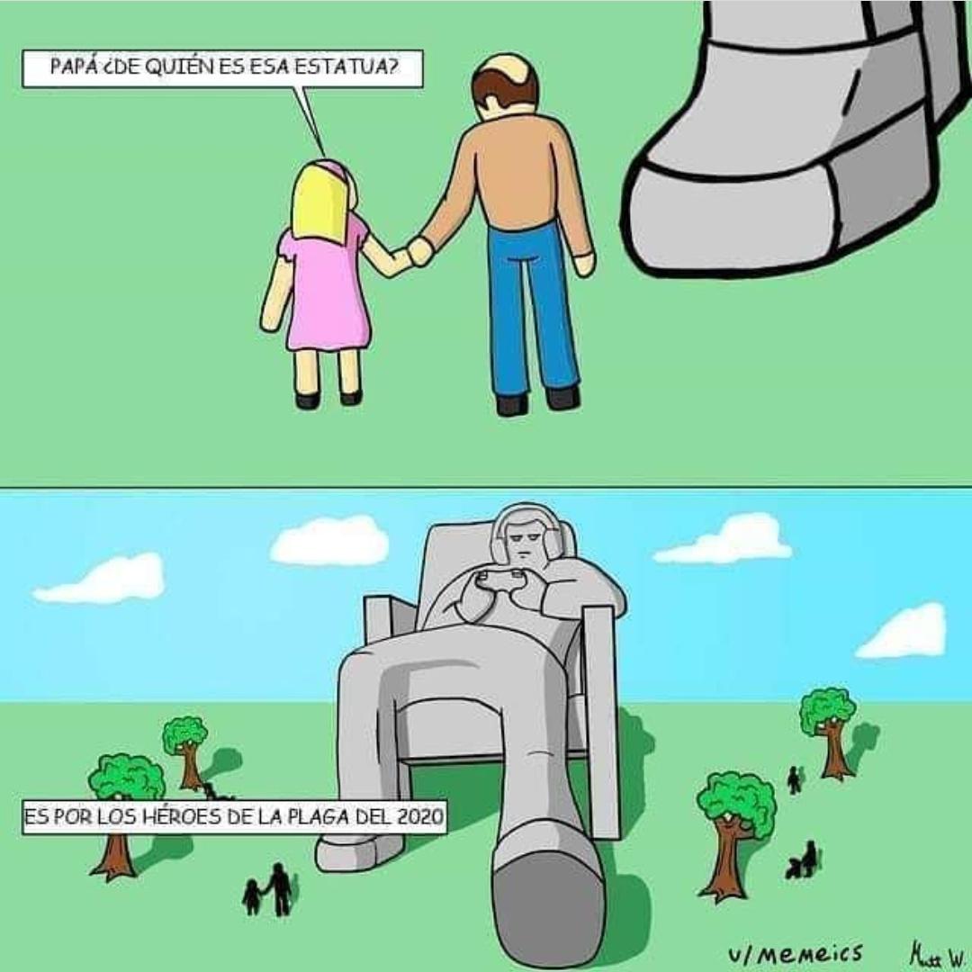 Si a los gamers les hacen una estatua no quiero imaginar que le harán a los Otakus. - meme