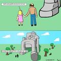Si a los gamers les hacen una estatua no quiero imaginar que le harán a los Otakus.