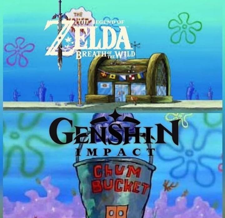 Probé ambos, el genshin no está tan mal - meme