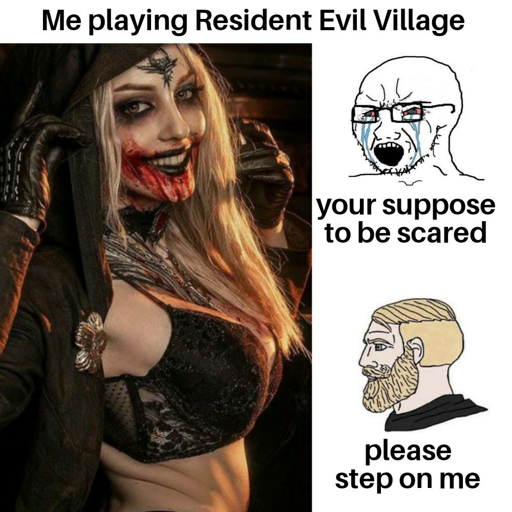 I'm not sure if I should be scared or horny XD - meme