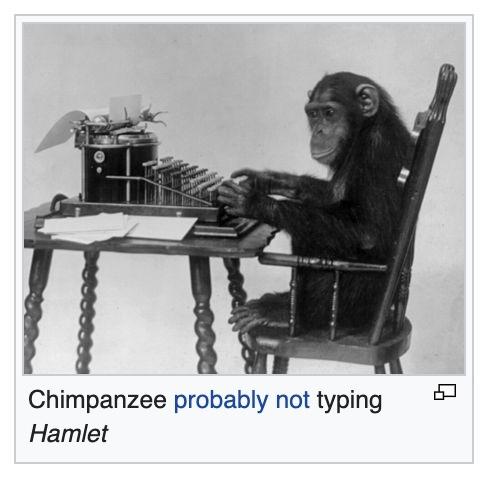 What if we had infinite monkeys though? - meme