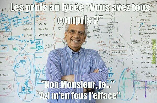 Les profs de maths - meme