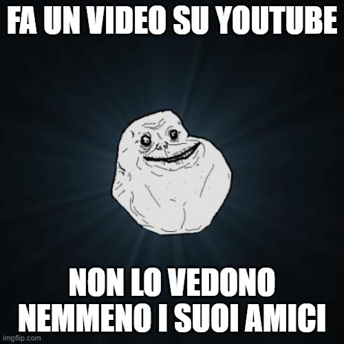 Youtuber alone - meme