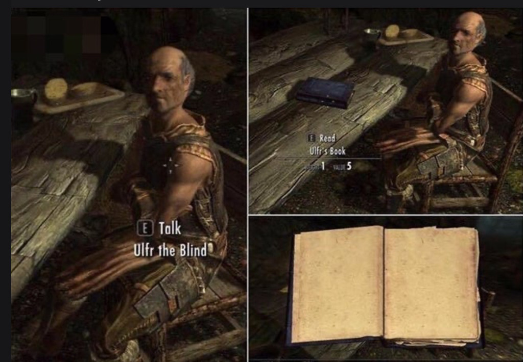 Piadas de Skyrim... - meme