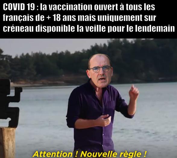 attention nouvelle règle sur la vaccination - meme