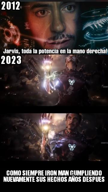 Como siempre fue...Iron Man - meme