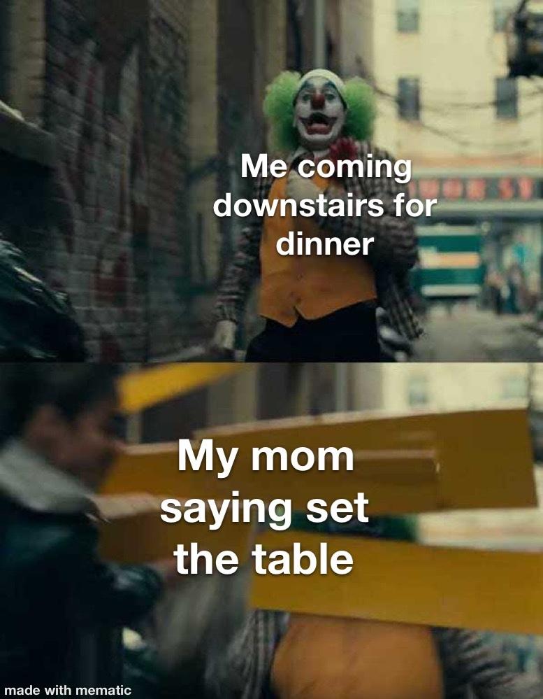 CoMe SeT tHe TaBlE - meme