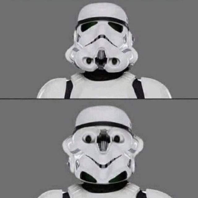 Algo anda mal.... pero el mejor trooper en puntería del imperio - meme