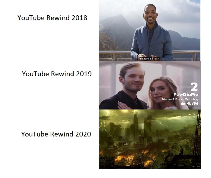 YouTube rewind apocalipse - meme