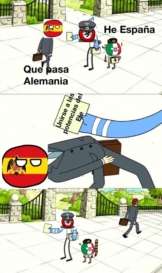 España y su neutralidad - meme