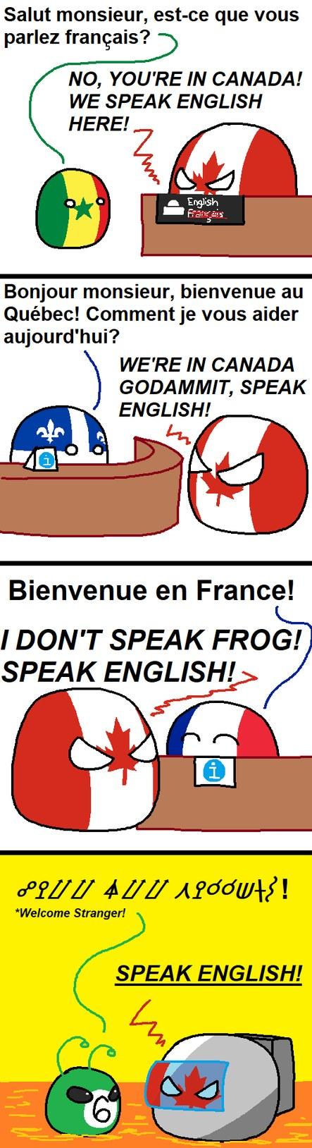 Parlez anglais ! - meme