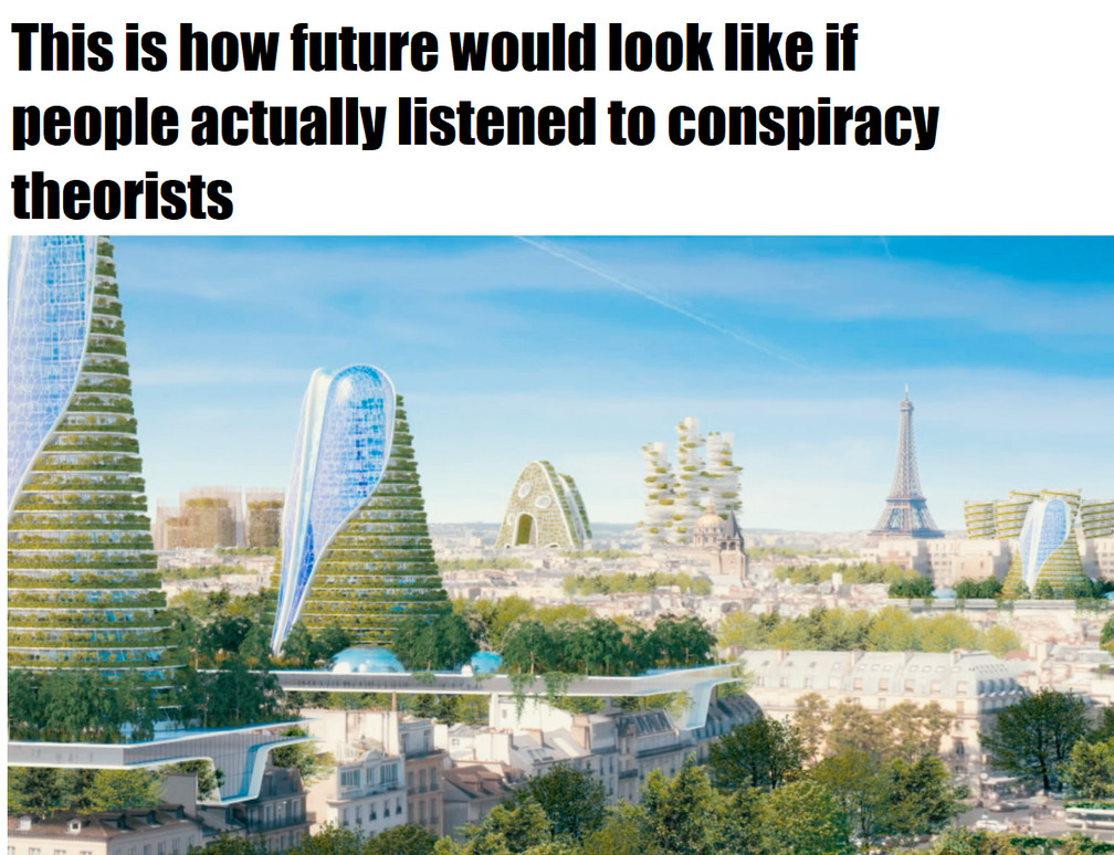 stop with your conspiracies - meme