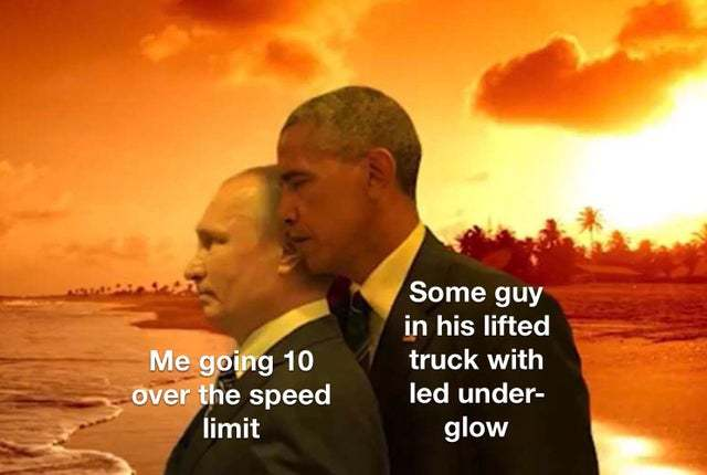 Safety distance - meme