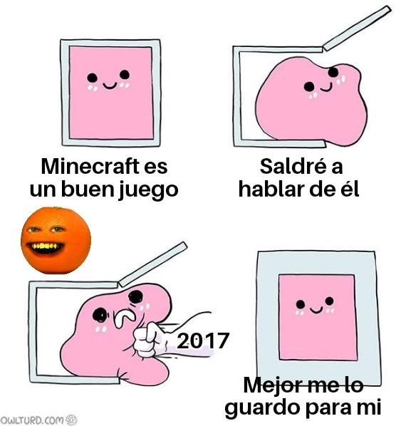 Minecraft en 2017 - meme