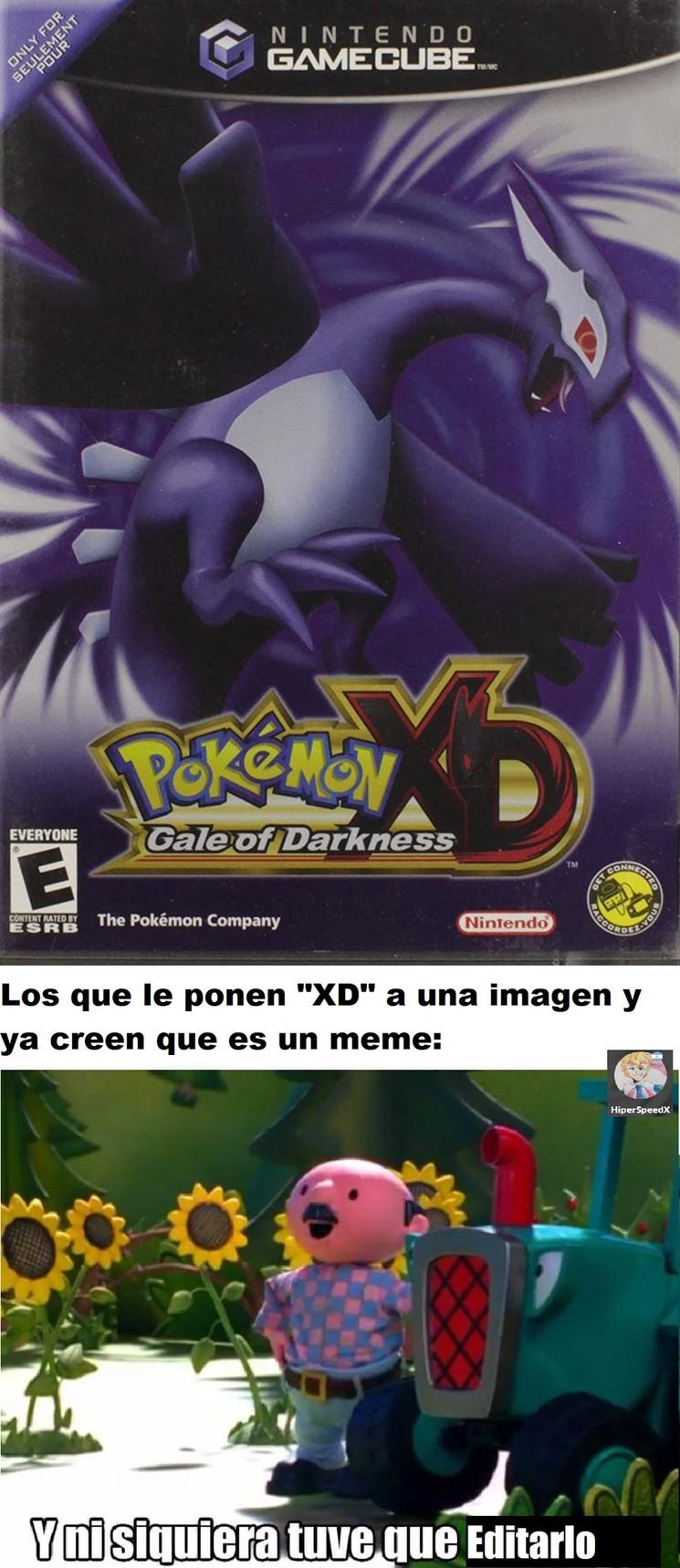 Pokemón XD - meme