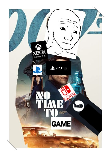 When you have all the games but no time - meme
