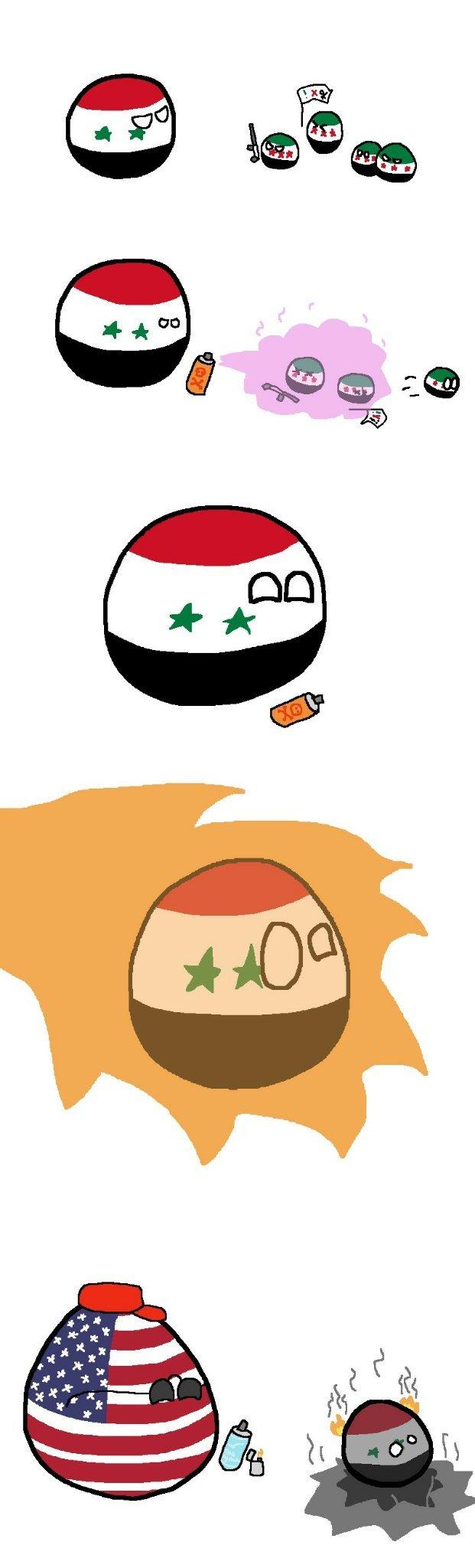 O que aconteceu na síria - meme