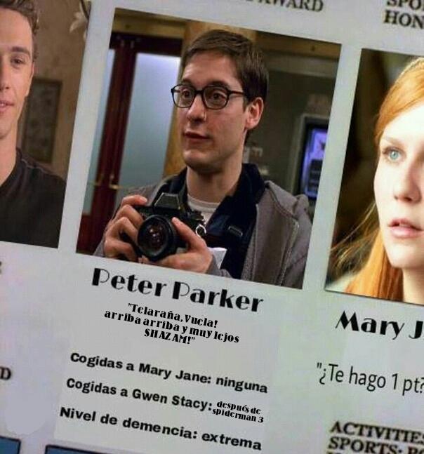 Peter emo parker - meme